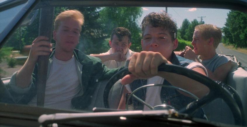 Stand by Me - Ricordo di un'estate frasi, citazioni e dialoghi, di Rob Reiner, con Kiefer Sutherland, macchina decapottabile