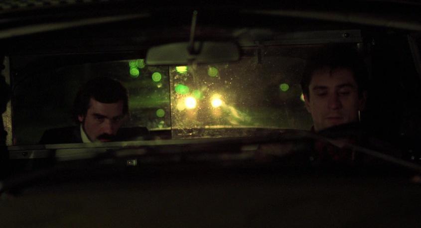 Taxi Driver frasi, citazioni e dialoghi della pellicola di Martin Scorsese con Robert De Niro, Cybill Shepherd, Peter Boyle, Jodie Foster, Harvey Keitel, sala cinematografica, cameo regista