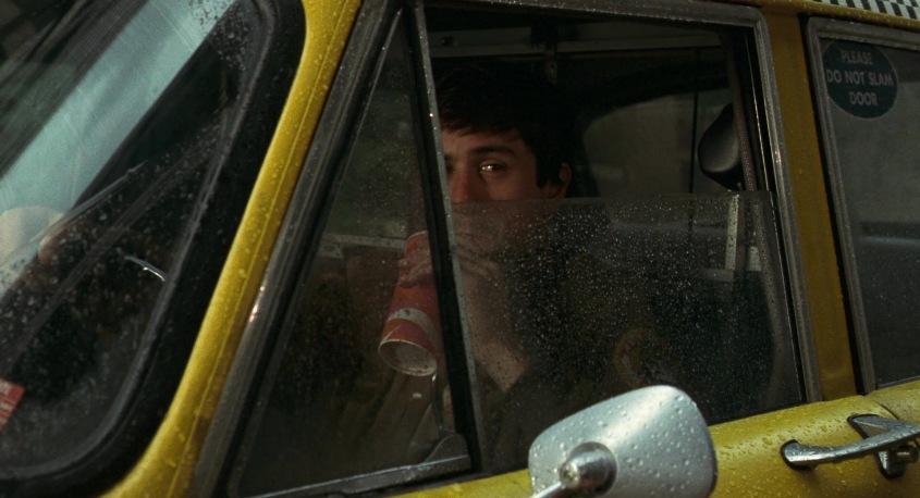 Taxi Driver citazioni e dialoghi della pellicola di Martin Scorsese con Robert De Niro, Cybill Shepherd, Peter Boyle, Jodie Foster, Harvey Keitel, finestrino