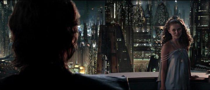 Star Wars Episodio III - La vendetta dei Sith citazioni e dialoghi, di George Lucas con Natalie Portman, Padmé Amidala, Coruscant di notte