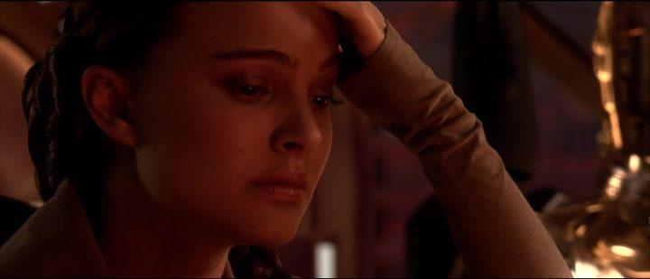 Star Wars Episodio III - La vendetta dei Sith citazioni e dialoghi, di George Lucas con Natalie Portman, Padmé Amidala, triste