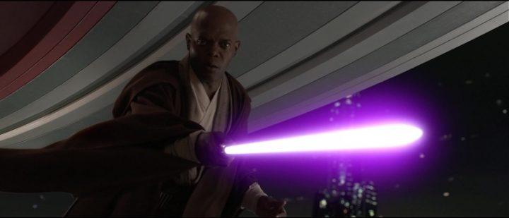Star Wars Episodio III - La vendetta dei Sith citazioni e dialoghi, di George Lucas, Samuel L. Jackson, Mace Windu, spada laser