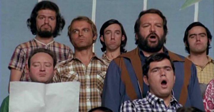 ...altrimenti ci arrabbiamo citazioni, dialoghi, Marcello Fondato, Bud Spencer, Terence Hill, coro
