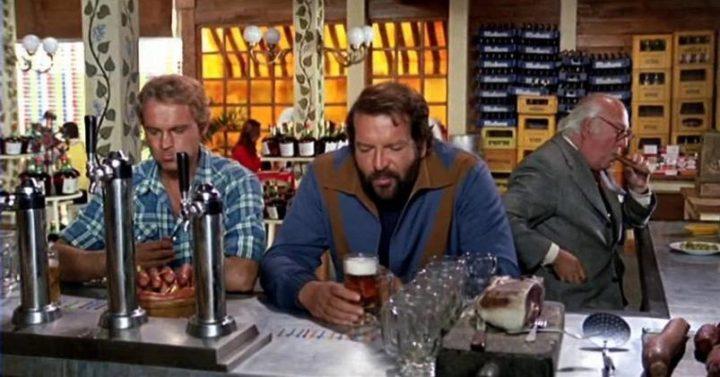 ...altrimenti ci arrabbiamo citazioni, dialoghi, Marcello Fondato, Bud Spencer, Terence Hill, gara birra e salsicce