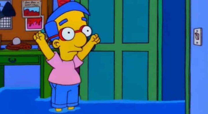 I Simpson, stagione 10, episodio 19, Homer e la pop art, Milhouse Van Houten. Il nome di Milhouse nei Simpson