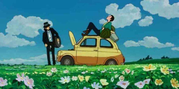 Lupin III - Il castello di Cagliostro, anime, 1979, Hayao Miyazaki, Daisuke Jigen, Fiat 500 F