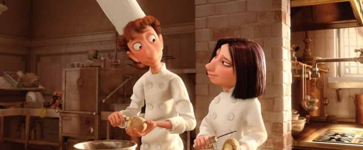 Ratatouille, 2007, Brad Bird, Jan Pinkava, Pixar, Rémy, Alfredo Linguini, Colette Tatou, patata