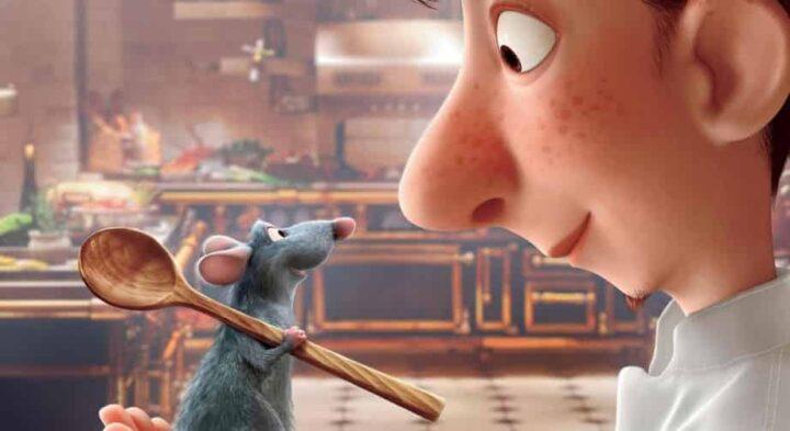 Ratatouille, 2007, Brad Bird, Jan Pinkava, Pixar, Rémy, Alfredo Linguini, cucchiaio, topo, cucina - Film d'animazione recensioni