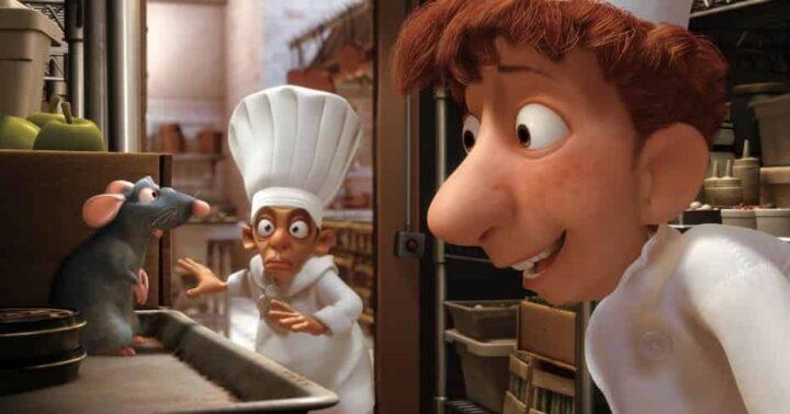 Ratatouille, 2007, Brad Bird, Jan Pinkava, Pixar, Rémy, Alfredo Linguini, topo