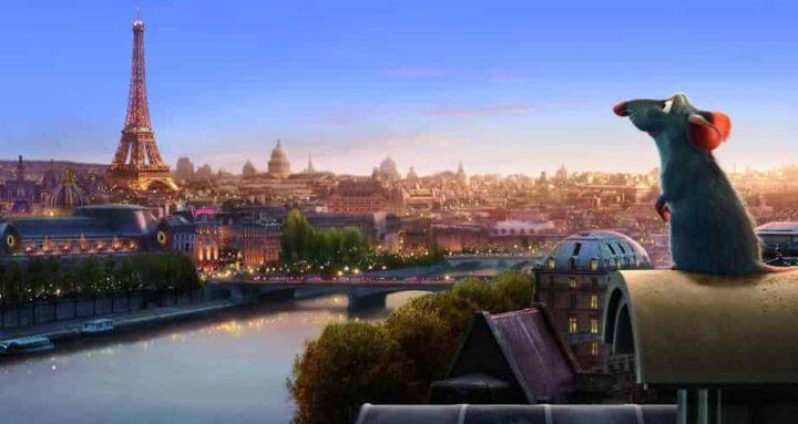 Ratatouille, 2007, Brad Bird, Jan Pinkava, Pixar, Rémy, Tour Eiffel, Parigi