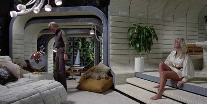 Saturno 3, Kirk Douglas, Farrah Fawcett, gambe, fantascienza (1980)