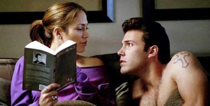 Amore estremo - Tough Love, 2003, Martin Brest, Ben Affleck, Jennifer Lopez, libro, letto