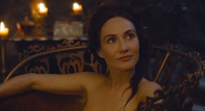 Game of Thrones, Carice van Houten, Melisandre, bagno, candele