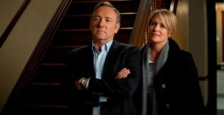 House of Cards - Gli intrighi del potere, Kevin Spacey, Frank Underwood, Robin Wright, Claire Underwood, scale