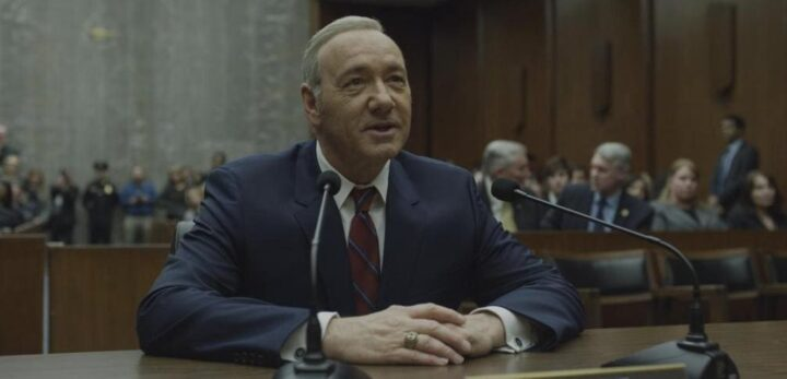 House of Cards - Gli intrighi del potere, Kevin Spacey, Frank Underwood, microfono