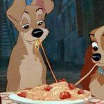 Lilli e il vagabondo, spaghetti with meatballs, pasta, cani