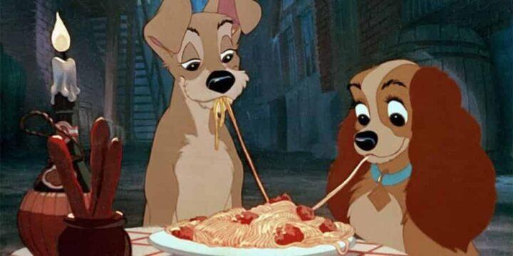 Ricetta degli Spaghetti with meatballs di Lilli e il vagabondo, pasta, cani