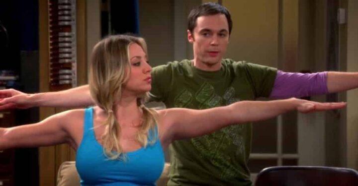 The Big Bang Theory, Jim Parsons, Sheldon Cooper, Kaley Cuoco, Penny, ginnastica