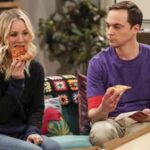 The Big Bang Theory, Jim Parsons, Sheldon Cooper, Kaley Cuoco, Penny, pizza