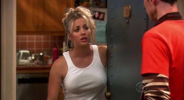 The Big Bang Theory, Jim Parsons, Sheldon Cooper, Kaley Cuoco, Penny, porta, 4b - Le migliori frasi di Penny
