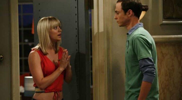 The Big Bang Theory, Jim Parsons, Sheldon Cooper, Kaley Cuoco, Penny, porta - Le migliori frasi di Penny