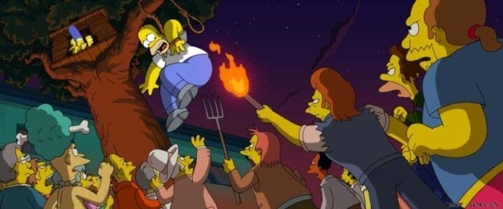 I Simpson - Il film, 2007 diretto da David Silverman, Matt Groening, Homer Simpson, folla inferocita - I Simpson - Il film frasi, citazioni e dialoghi