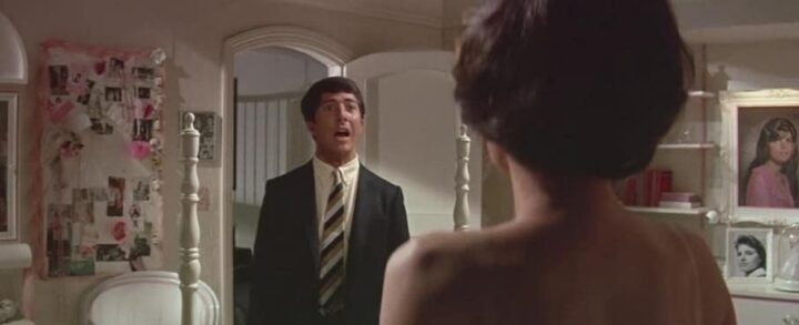 Il laureato, 1967, Mike Nichols, Dustin Hoffman, Anne Bancroft nuda