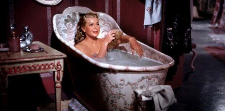 La vedova allegra, 1952, Curtis Bernhardt, Lana Turner, vasca da bagno