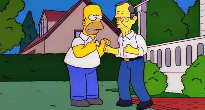 I Simpson settima stagione frasi e citazioni, episodio 8, Due pessimi vicini di casa, Homer, George H. W. Bush