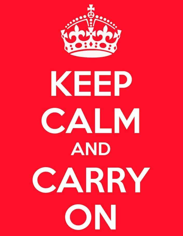 La storia di Keep Calm and Carry On
