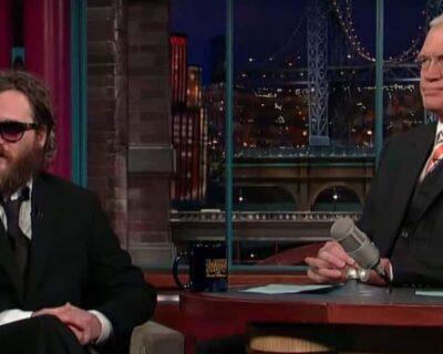 La strana intervista di Joaquin Phoenix da Letterman
